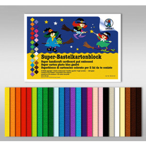 Super-Bastelkartonblock 220 g/qm 23 x 33 cm - 25 Blatt sortiert