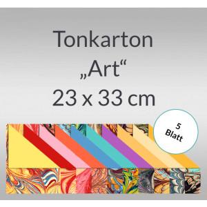 """Tonkarton """"Art"""" 220 g/qm 23 x 33 cm - 5 Blatt"""