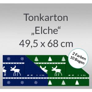 """Tonkarton """"Elche"""" 220 g/qm 49,5 x 68 cm - 10 Bogen sortiert"""