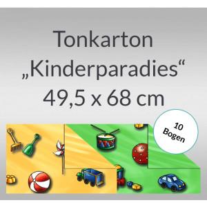 "Tonkarton ""Kinderparadies"" 220 g/qm 49,5 x 68 cm - 10 Bogen"