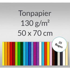 Tonzeichenpapier 130 g/qm 50 x 70 cm - 25 Bogen
