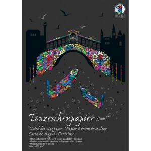 """Tonzeichenpapier-Block """"Sonderedition Pastell"""" DIN A3 - 10 Blatt sortiert"""