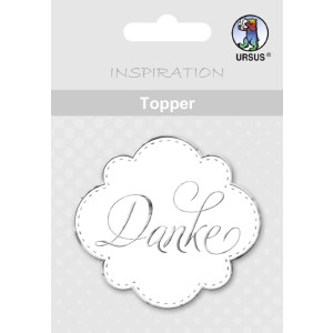 "Topper ""Danke"" weiß/silber - Motiv 11"