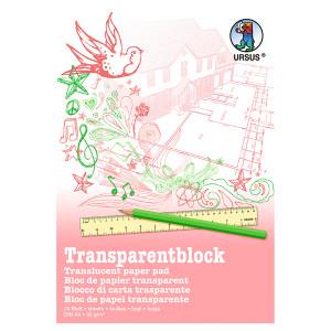 Transparentblock 65 g/qm DIN A4 - 25 Blatt