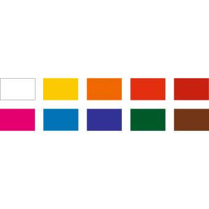 Transparente farbige Fensterfolie 35 x 50 cm - 10 Blatt sortiert