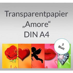 """Transparentpapier """"Amore"""" DIN A4 - 5 Blatt"""
