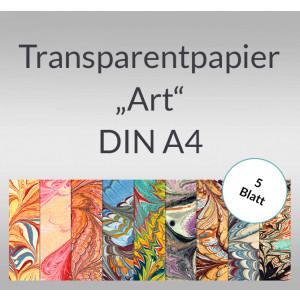 """Transparentpapier """"Art"""" DIN A4 - 5 Blatt"""