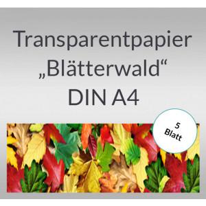 """Transparentpapier """"Blätterwald"""" DIN A4 - 5 Blatt"""
