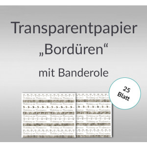 "Transparentpapier ""Bordüren"" DIN A4 silber - 25 Blatt"