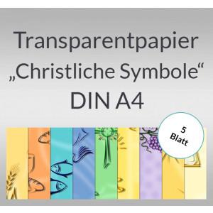 "Transparentpapier ""Christliche Symbole"" DIN A4 - 5 Blatt"