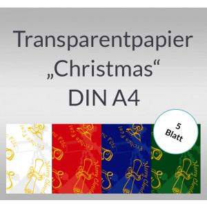 "Transparentpapier ""Christmas"" DIN A4 - 5 Blatt"