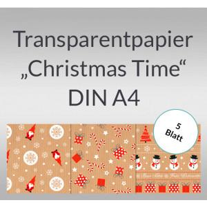 "Transparentpapier ""Christmas Time"" DIN A4 - 5 Blatt"