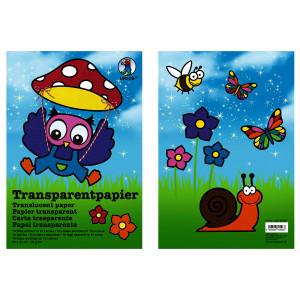 Transparentpapier (Drachenpapier) 42 g/qm 23 x 33 cm - 10 Blatt sortiert