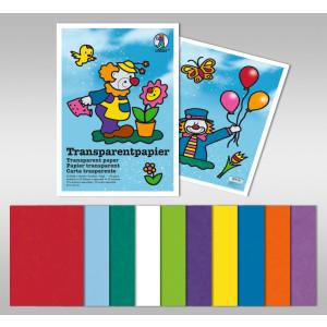Transparentpapier (Drachenpapier) 42 g/qm 35 x 50 cm - 50 Blatt in 10 Farben