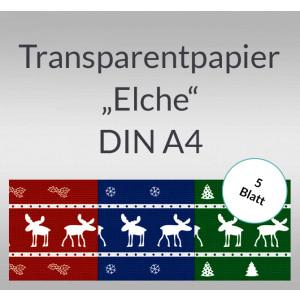 """Transparentpapier """"Elche"""" DIN A4 - 5 Blatt"""