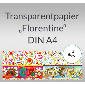 "Transparentpapier ""Florentine"" DIN A4 - 5 Blatt"