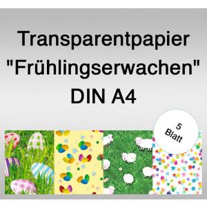 """Transparentpapier """"Frühlingserwachen"""" DIN A4 - 5 Blatt"""