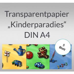 "Transparentpapier ""Kinderparadies"" DIN A4 - 5 Blatt"