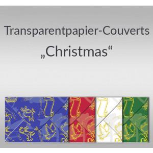 "Transparentpapier-Kuverts ""Christmas"" 115 g/qm - 5 Stück"