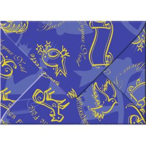 "Transparentpapier-Kuverts ""Christmas"" 115 g/qm blau - 5 Stück"