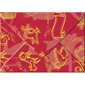 "Transparentpapier-Kuverts ""Christmas"" 115 g/qm rot - 5 Stück"