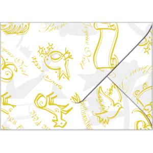 "Transparentpapier-Kuverts ""Christmas"" 115 g/qm weiß - 5 Stück"