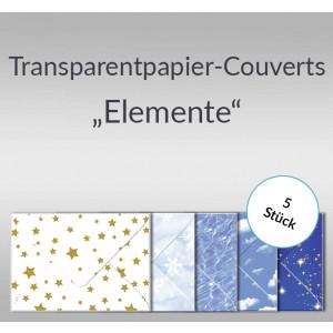 "Transparentpapier-Kuverts ""Elemente"" 115 g/qm - 5 Stück"