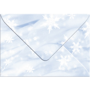 "Transparentpapier-Kuverts ""Elemente"" 115 g/qm Schnee - 5 Stück"