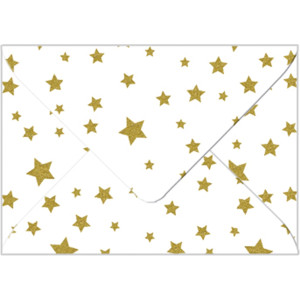 "Transparentpapier-Kuverts ""Elemente"" 115 g/qm Sterne - 5 Stück"