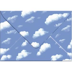 """Transparentpapier-Kuverts """"Elemente"""" 115 g/qm Wolken - 5 Stück"""