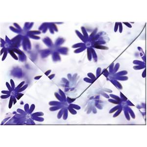 """Transparentpapier-Kuverts """"Flora"""" 115 g/qm Blümchen - 5 Stück"""