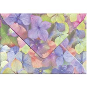 "Transparentpapier-Kuverts ""Flora"" 115 g/qm Hortensie - 5 Stück"