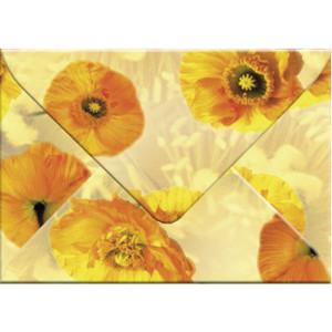 "Transparentpapier-Kuverts ""Flora"" 115 g/qm Islandmohn - 5 Stück"