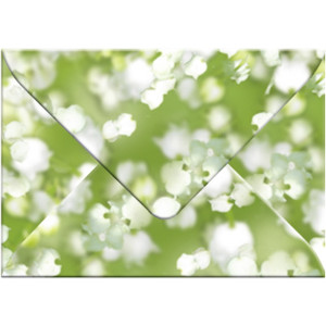 """Transparentpapier-Kuverts """"Flora"""" 115 g/qm Maiglöckchen - 5 Stück"""