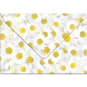 """Transparentpapier-Kuverts """"Flora"""" 115 g/qm Margeriten - 5 Stück"""