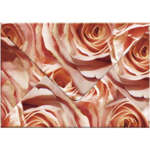 """Transparentpapier-Kuverts """"Flora"""" 115 g/qm Rosen - 5 Stück"""
