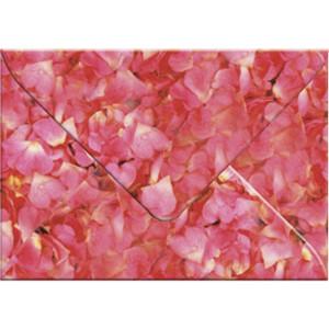 """Transparentpapier-Kuverts """"Flora"""" 115 g/qm Rosenblätter - 5 Stück"""