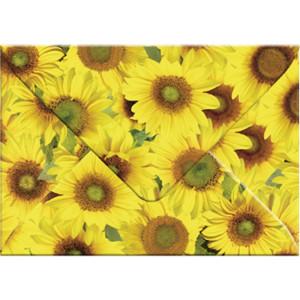 """Transparentpapier-Kuverts """"Flora"""" 115 g/qm Sonnenblumen - 5 Stück"""