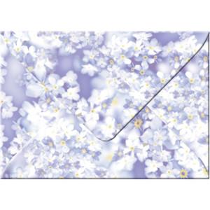 """Transparentpapier-Kuverts """"Flora"""" 115 g/qm Vergissmeinnicht - 5 Stück"""