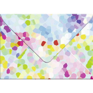 "Transparentpapier-Kuverts ""Mosaik"" 115 g/qm - 5 Stück"