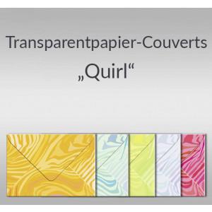 """Transparentpapier-Kuverts """"Quirl"""" 115 g/qm - 5 Stück"""