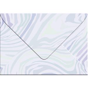"Transparentpapier-Kuverts ""Quirl"" 115 g/qm hellblau - 5 Stück"