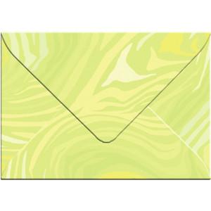 """Transparentpapier-Kuverts """"Quirl"""" 115 g/qm hellgrün - 5 Stück"""