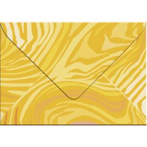 "Transparentpapier-Kuverts ""Quirl"" 115 g/qm orange - 5 Stück"
