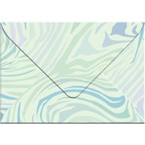 "Transparentpapier-Kuverts ""Quirl"" 115 g/qm türkis - 5 Stück"