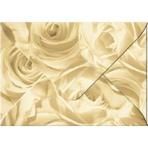 "Transparentpapier-Kuverts ""Rosen"" 115 g/qm antik - 5 Stück"