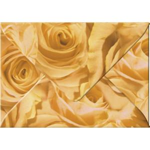 "Transparentpapier-Kuverts ""Rosen"" 115 g/qm apricose - 5 Stück"