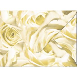 "Transparentpapier-Kuverts ""Rosen"" 115 g/qm champagner - 5 Stück"