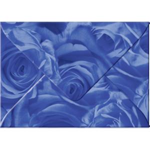 """Transparentpapier-Kuverts """"Rosen"""" 115 g/qm dunkelblau - 5 Stück"""