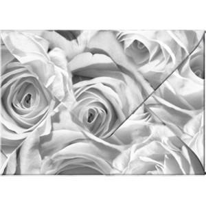 """Transparentpapier-Kuverts """"Rosen"""" 115 g/qm graphit - 5 Stück"""